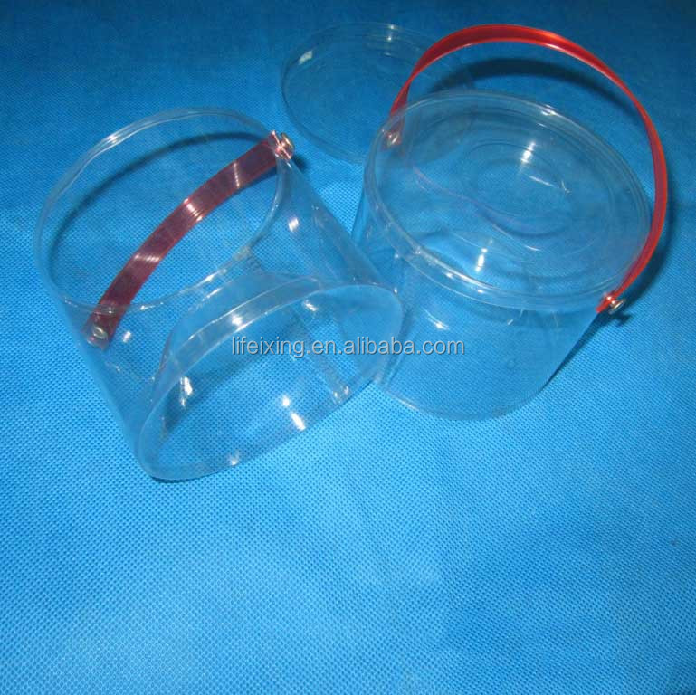 PET tube packaging for candy with handle