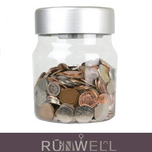 Transparent cheap bank digital coin counting money jar