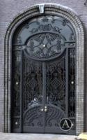 Best wrought iron door inserts/simple iron grill window door designs