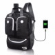 Waterproof Resistant Polyester Laptop Backpack with USB Charging Port for College Student Work Men Fits Under 15.6-Inch Laptop