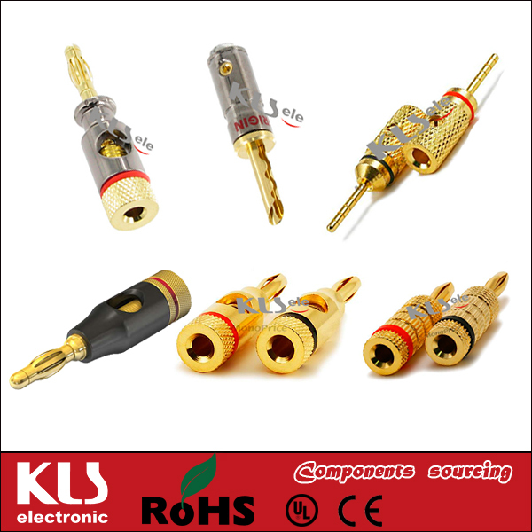 Good quality electrical 4mm banana plug UL CE ROHS 495 KLS