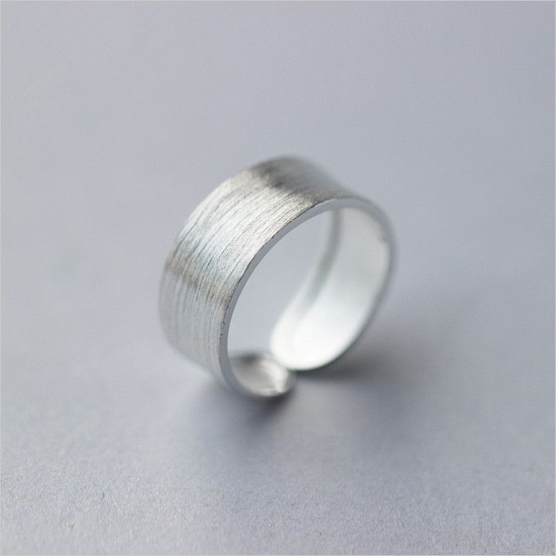 Simple 8mm Polished Resizable Ring 925 Sterling Silver Attractive Key Rings For Women Men