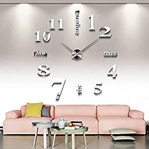 Get Quotations Wall Clocks Modern Diy Large Clock Mirror Surface Sticker Home Office Decor