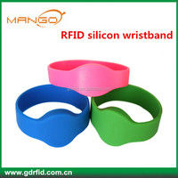 125KHz 13.56mhz silicone / nylon/nfc proximity rfid wristband with factory price