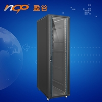 12U Office Server Cabinet w/ Wood Finish and Casters