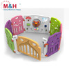 Plastic large playpen for baby portable foldable plastic playpen colorful kids plastic playpen