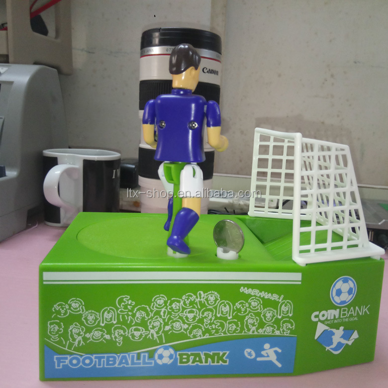 New Arrival Football Gate Design Money Bank For Kids, Cool Gift Novelty Coin Bank For Children