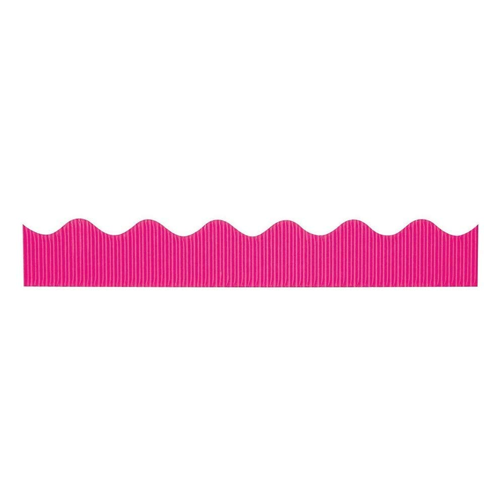 "Bordette Decorative Bulletin Board Pink Border Roll, 2.25"" by 50' by ESG Warehouse"