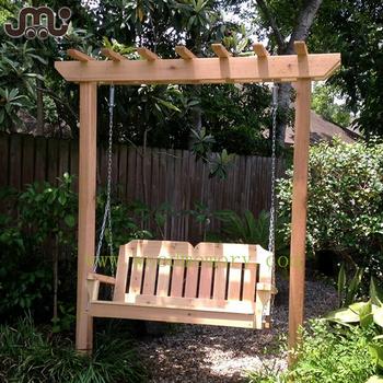 Old Time Entspannende 8*2 Fuß Holz Garten Pergola Schaukel