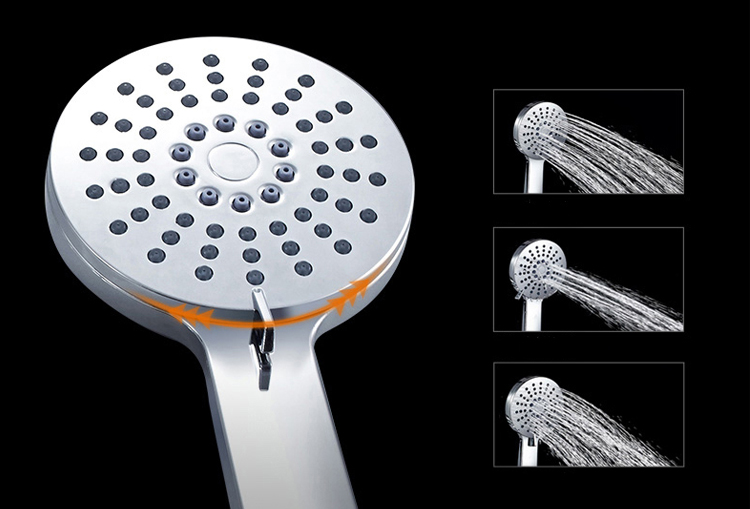 Three Way Bathtaub UPC Shower Faucet Exposed Rain Fall Bath Showers