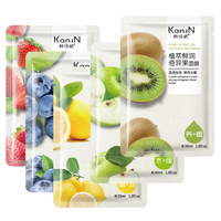 FDA OEM Skin Care Five Fruit Facial Mask Strawberry Lemon Blueberry Apple Kiwi Sheet Mask Moisturizing Oil Control Face Mask