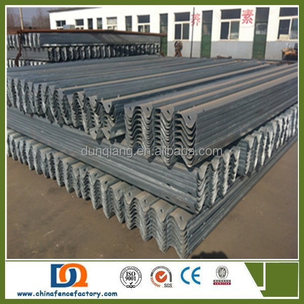 Safety Metal W Beam Highway Plastic Coated Crash Barrier