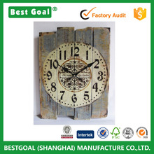 Retro Antique Silent No Ticking Wood Wall Clock Shabby Chic wooden wall clock