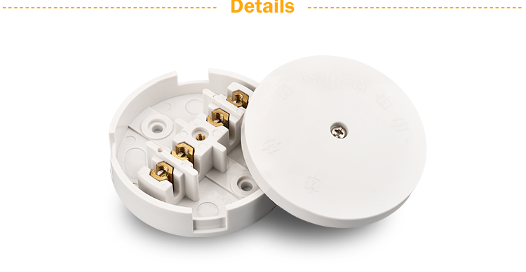 Electrical 4-way connector cable connection junction box size dimensions