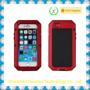 For Apple iPhone 6 Shockproof Dustproof Waterproof Aluminum Alloy Metal Gorilla Glass Cover Case