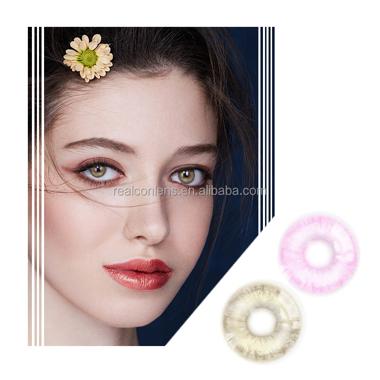 Natural Color 3-Tone Realcon New Design Color Contact Lenses For Big Eyes