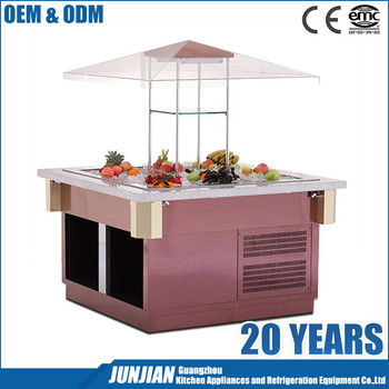 Commercial Refrigerated Counter Top Salad Bar E-c-bxgl6 ...