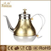 1.2L Fashion design arabic royal stainless steel process tea kettle