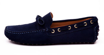 Navy Blue Suede Ladies Mens Driving Shoes Buy Mens Driving