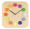 Cason Wooden color ball wall clock