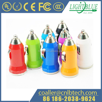 Portable 10 Colors 2A USB Car Charger for iPhone/iPad/iPod
