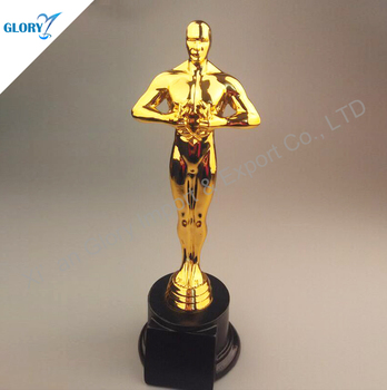 metal plate resin oscar statue trophy for events award buy metal