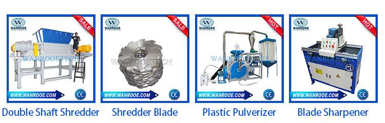 Afval Plastic Pijp Houten Pallet Enkele As Shredder Machine voor Verkoop