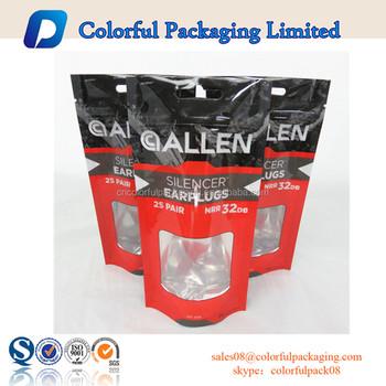 Custom Printed Ziplock Bags Aluminum Foil Zip Lock Bag With Hanger Resealable Stand Up