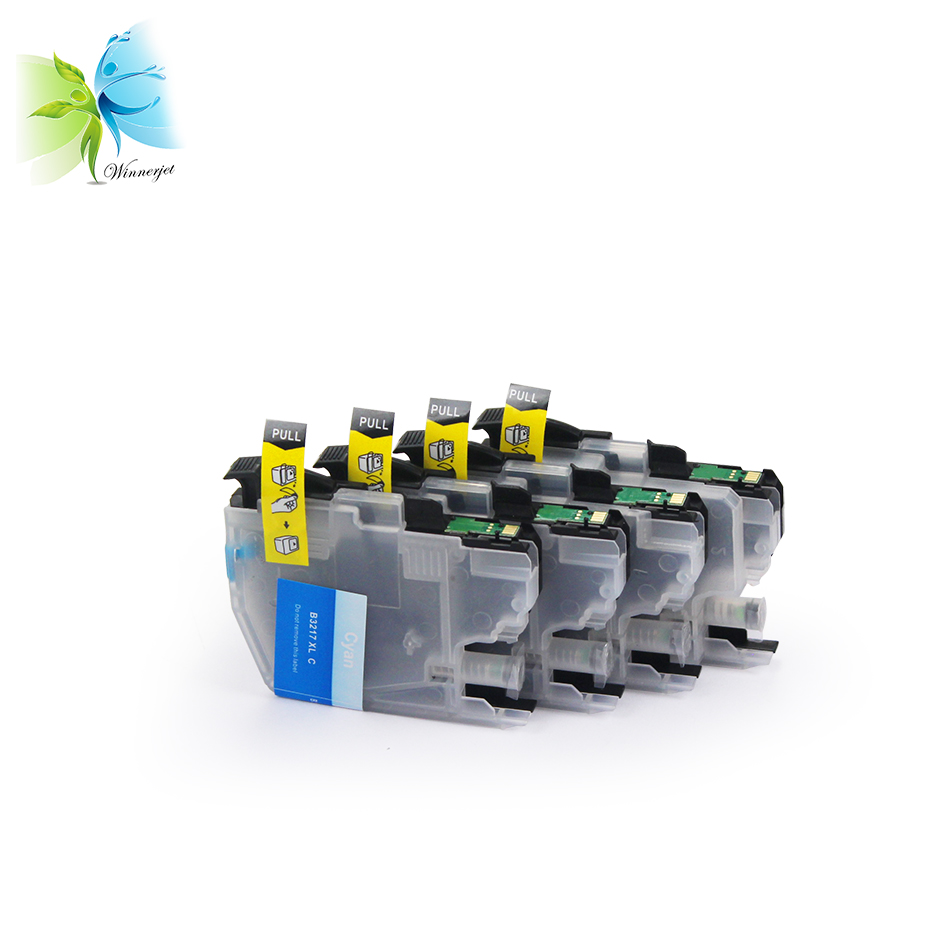 empty compatible LC series MFC printer ink cartridge LC3217 LC3219 for BROTHER inkjet printers