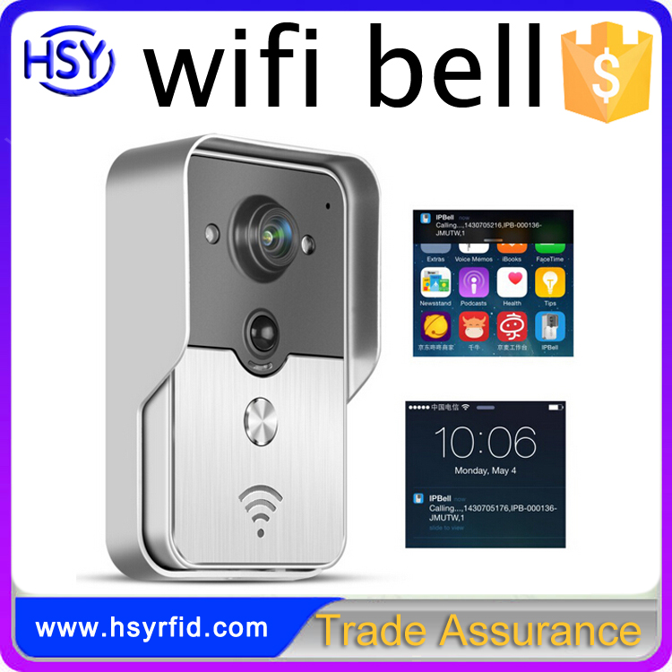 P2P cloud Service H.264 Wireless Smart Phone APP Control Wifi Net work Colour Video Door Bell