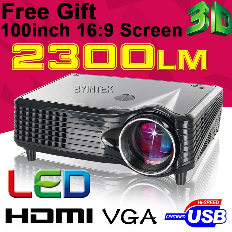High Definition Home Theater 2300Lumens HDMI Brand USB 1080P LCD Mini FUll hD Video 3D LED Projector Proyector Projetor Beamer