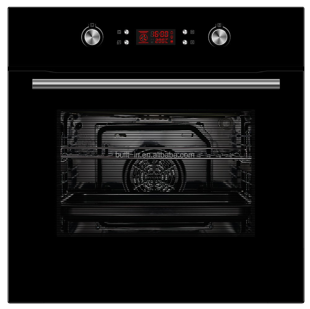 60cm 65L Built-in Electric Oven Baking Oven Home Oven with Rotisserie and Pyrolytic Self-cleaning Function with Door Lock