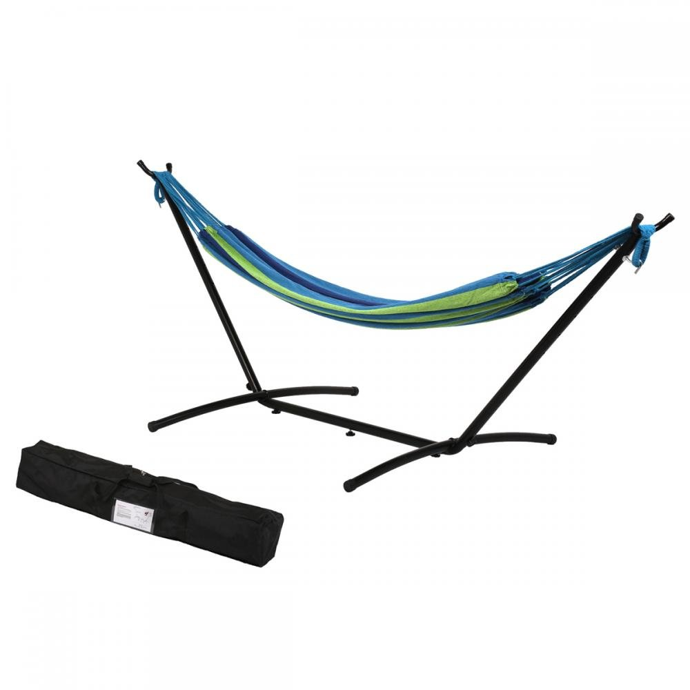 BestMassage Hammock Stand with Hammock,Hammock Stand Portable Hammock Stand Heavy Duty Steel Standfor Outdoor Patio Or Indoor with Carrying Case