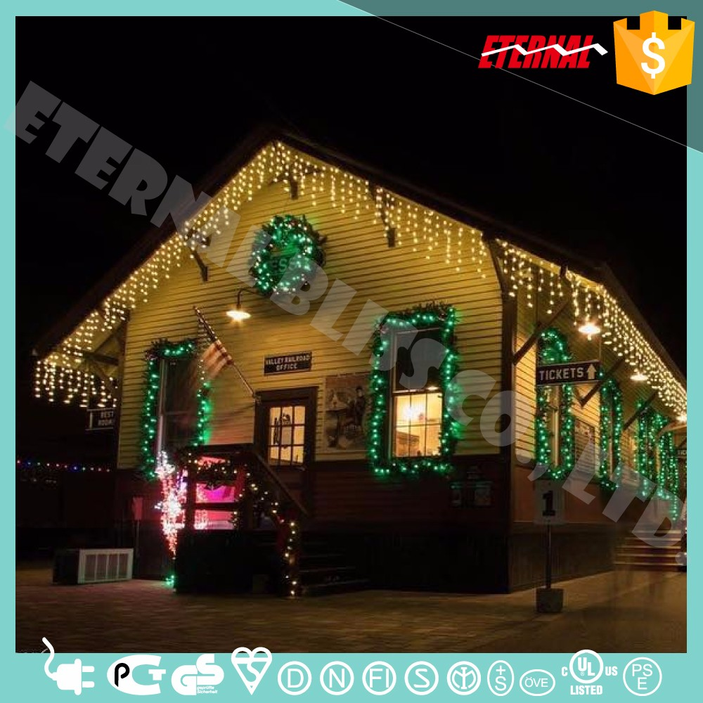 residential holiday light installation led string lighting