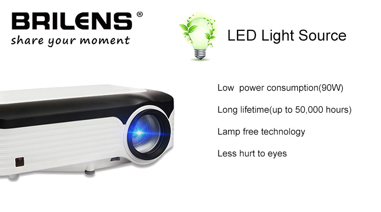 Brilens 2019 new product cheap lcd mini projector Built in Android tv mini home theater Projector