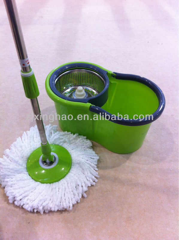 Italian floor rotation mop Gift Magic Spin Mop/Bucket No Foot Pedal Rotate 360 with 2 heads Brooms Duster Mop Brush Holder