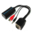 HD VGA to HDMI female converter with USB with audio vga to hdmi video converter
