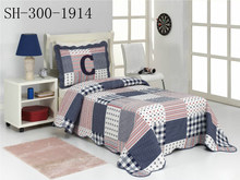 Twin Size High Quality Wavy Selvedges Patchwork Quilt for Child