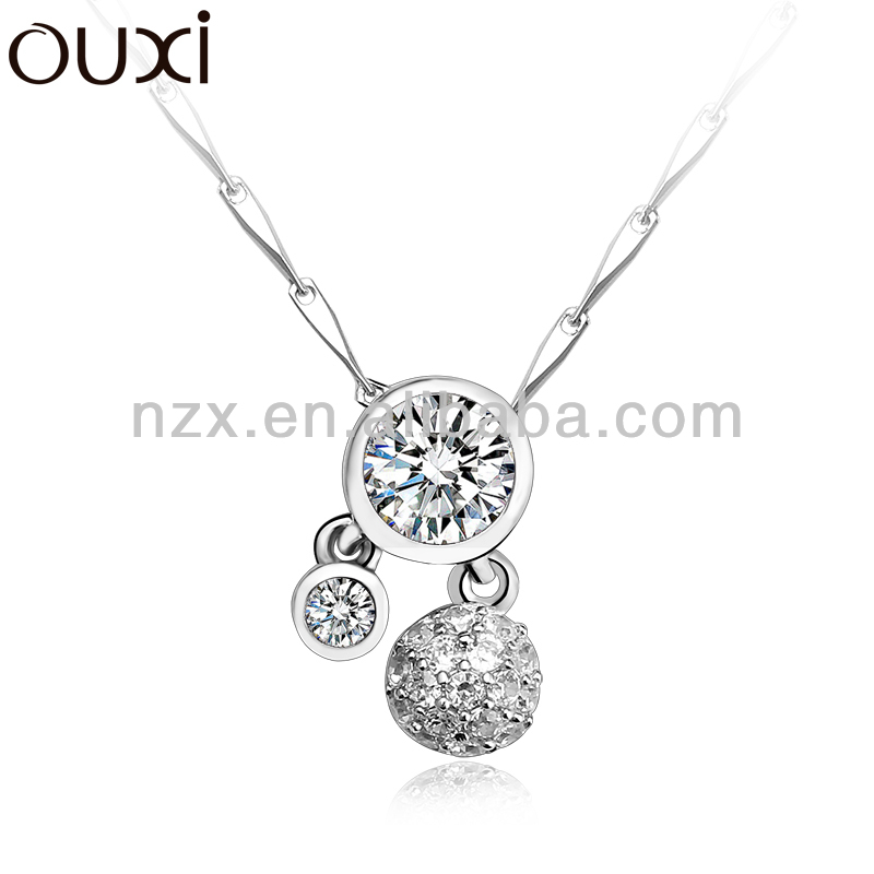 OUXI 2015 antique 925 sterling silver cross pendant made with Crystal Y30077 only pendant