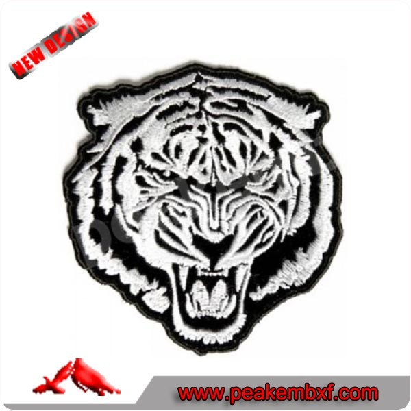 Hot Sale Tiger Embroidery Patch For Clothing