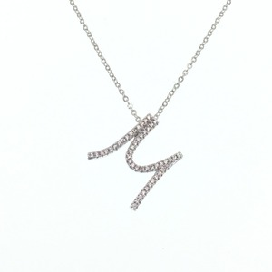 Echsio Simple Necklace With Personalized Letter M Cubic Zirconia Paved Gold Pendant Necklace For Women XL304