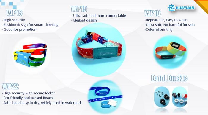 OEM impressão do logotipo personalizado faixa de pulso inteligente NFC NTAG213/215/216 RFID tecido pulseira para evento