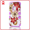 New Global Hawiian Flower High Impact Soft Silicone Hard PC Armor Case for Iphone 5