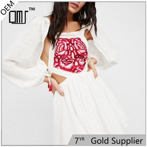 Clothing factories in China embroidered crocheted ghd boho dress women