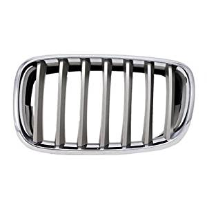 KEYSTONE 51137185224 - BMW X6 BM1200183 REPLACEMENT FRONT GRILLE SILVER WITH CHROME RING