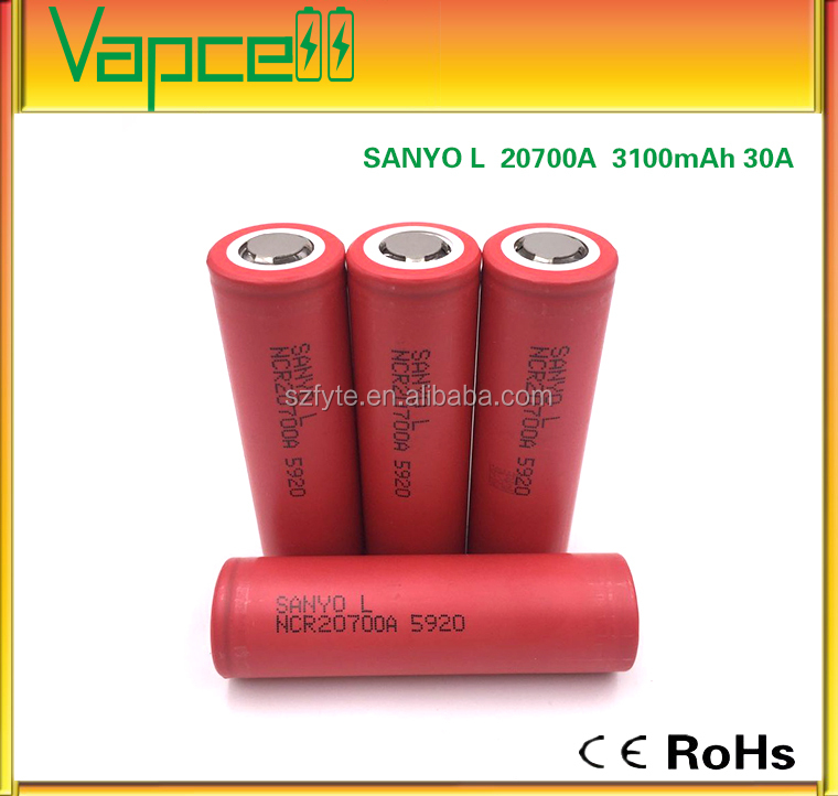2017 Authentic rechargeable battery Sanyo L NCR20700A 5920 3100mAh 30A 20700 lithium battery