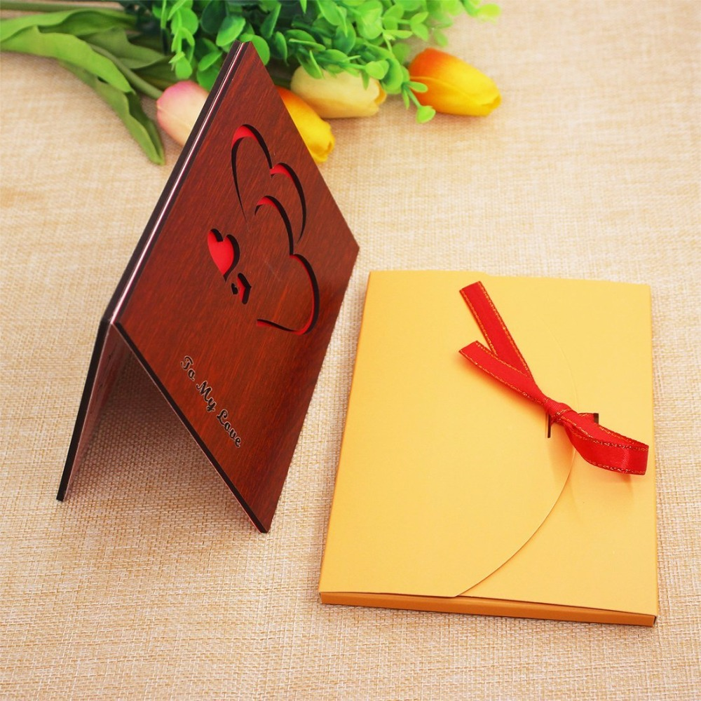 2019 Heart Shaped Chinese Style Red Wedding Invitation Card