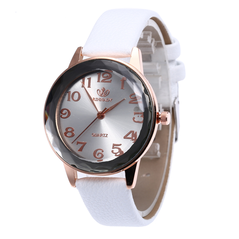 Alibaba.com / WJ-7974 Leather Band Simple Candy Multicolor Girls Cheap Student Watch Leather Band Quartz Ladies Quartz Dress Watch