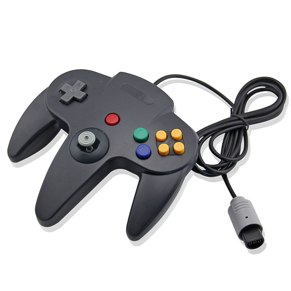Wired USB Game Controller For N64 Gaming Joypad Joystick USB Games Gamepad Black