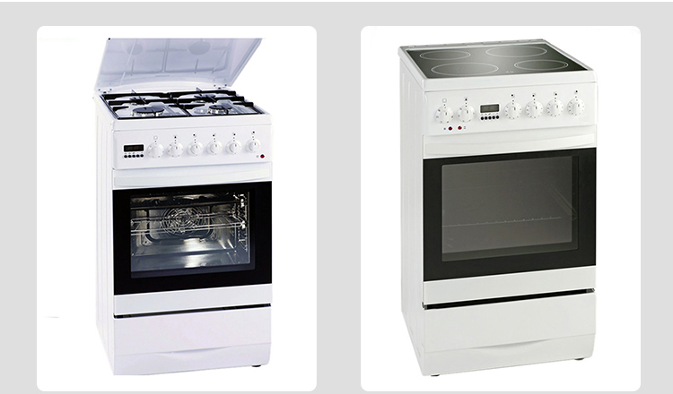 Kitchen appliance free standing oven gas cooker with 4 burner